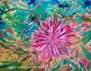 Bottle Brush Flower-Key Biscayne Library